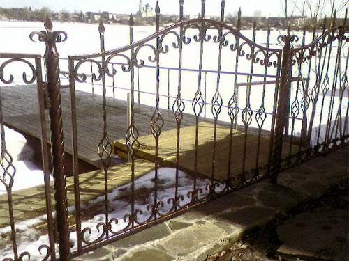 забор метал17